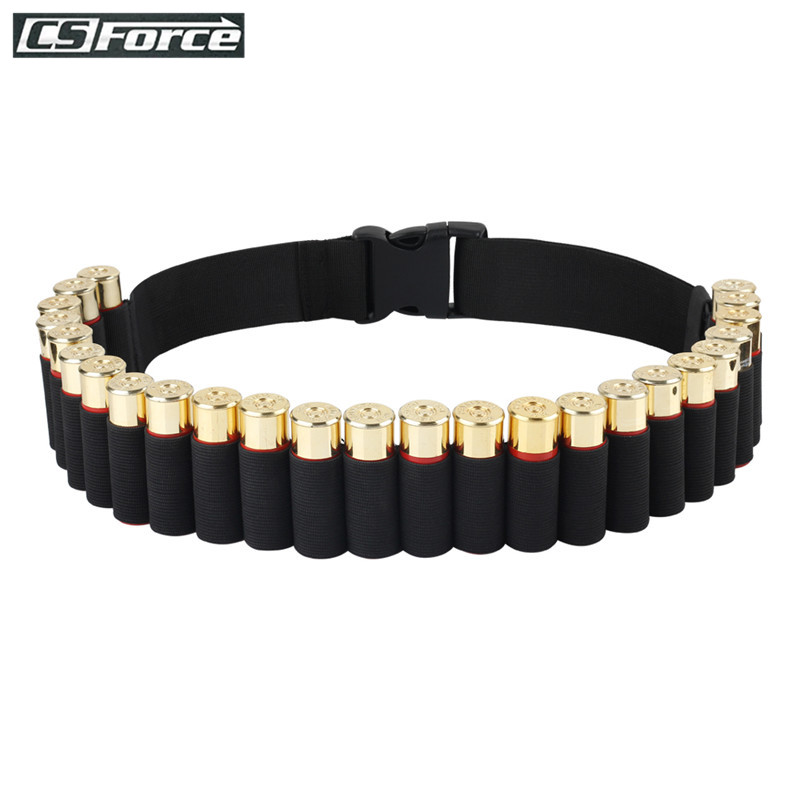 140*5CM Bandolier Belt 25 Rounds Shell Holder Airsoft Hunting Tactical 12 Gauge Ammo Holder Military Shotgun Cartridge Belt $