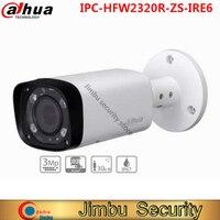 Original dahua 3mp ir bala câmera de rede slot para cartão até 128 gb 2.7 12 12mm lente varifocal ir 60m ip67 poe IPC HFW2320R ZS IRE6|card slot|original dahua|dahua 3mp -