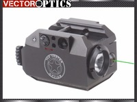 TAC Vectop Optics Tactical Pistol LED Flashlight Torch Green Laser Sight Combo 200 Lumens Weapon Light