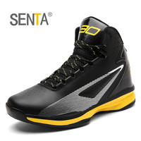 SENTA Men Basketball Shoes Anti Skid Athletic Basketball Boots Breathable Outdoor High Top Basketball Sneakers Traning Gym Shoes