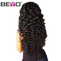 Beyo Deep Wave Brazilian Hair 100 Human Hair Weave Bundles Natural Color Non Remy 10 28