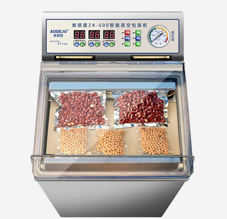 Wet and Dry Food Sealer 220V Commercial Vacuum Food Packing Machine Double Tea Sealing Machine ZK 600