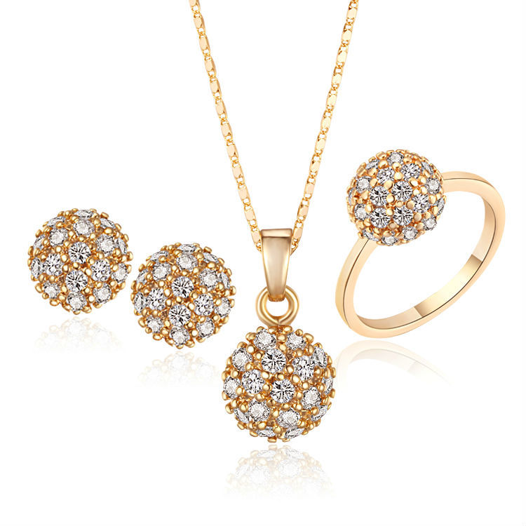 18k gold plated african jewelry sets for women pendant necklace stud s18k 8201 mozeypictures Images