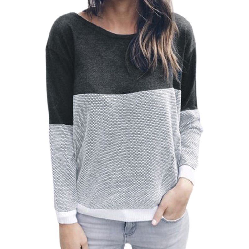 Mujer Reversible hueco Jersey de punto jersey manga larga sin respaldo dos lado desgaste Otoño Invierno Plus tamaño GV151