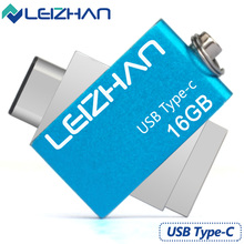LEIZHAN High Speed USB3.1 Type C U Stick 32G Pendrive Metal 16G Pen Drive Storage Memory U Disk Mini External Device Flash Drive