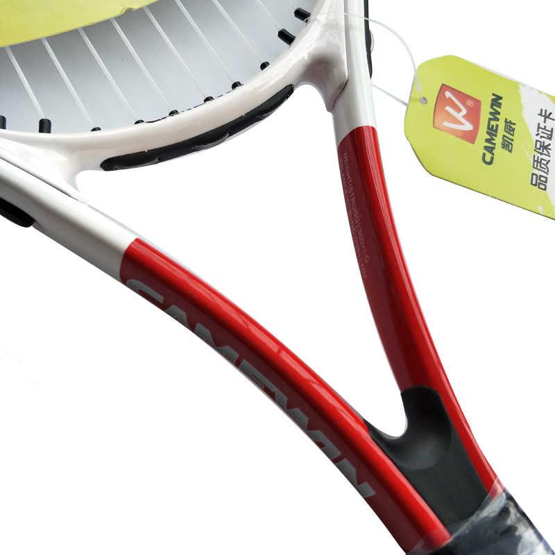 CAMEWIN Brand 1 Piece High-quality Carbon Fiber Tennis for tenis masculino Men and Women Racket with Tennis Bag raquete de tenis