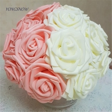 20 pieces PE Foam Rose Flowers Pretty Charming Artificial Bride Bouquet DIY Scrapbooking Wedding Home Decor Supply