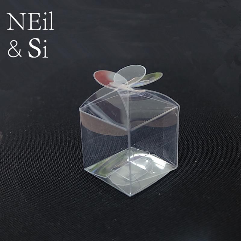 Plastic Leaf Clover Box Clear Wedding Favor Gift Candy