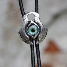 Bolotie Corbata de ojo de resina de acero inoxidable para hombre, corbata de cuello con personalidad, accesorio de moda
