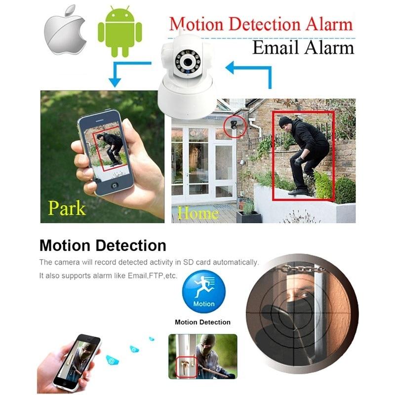 Caméra ip wifi sans fil sécurité à domicile téléphone intérieur vue en temps réel 720 P moniteur bébé/animal de compagnie - 5