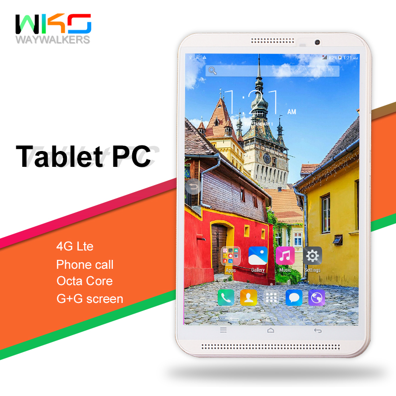 HOT 2019 Newest Android 7.0 Octa Core 8 inch Tablet PC 4GB RAM 32GB ROM 8MP WIFI 4G LTE G+G Screen 1280*800 Phone Call lnmbbs 8 inch tablet sims android 7 0 cheap tablets with free shipping lte 4g eight core 1280 800 2g ram 32g rom wifi game play