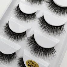 лучшая цена YSDO 5 pairs faux mink eyelashes winged faux cilios false eyelashes wispy lashes individual lashes makeup natural long eyelashes