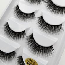 YSDO 5 pairs faux mink eyelashes winged cilios false wispy lashes individual makeup natural long