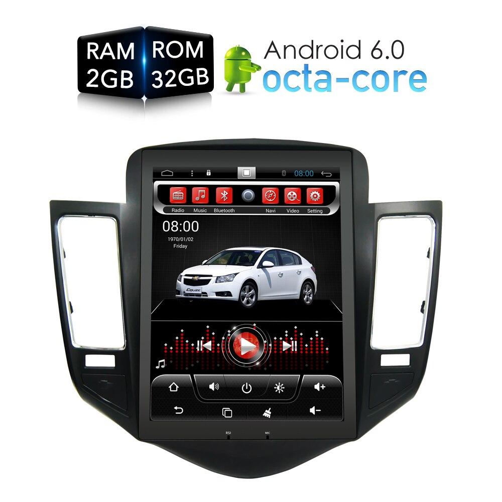 Тесла HD Экран Android 6.0 стерео dvd-плеер GPS навигация Мультимедиа для Chevrolet Cruze 2009-2013 Авто головного устройства радио