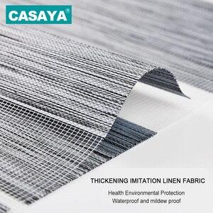 Image 2 - Full Light Shade Roller Blinds Dust Cover Design Thicken Linen Fabric  28mm Aluminum Track Zebra Blinds for Living Room