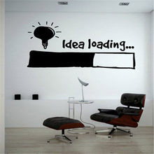 Idea Loading Wall Stickers Light Bulb Lamp Window Car DIY Sticker Decal Vinyl Silhouette Clip Art Vector Plotter Cut Decor(China)