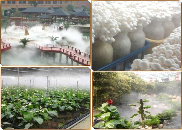 10 Head Ultrasonic Mist Maker Fogger Fog Water Pond Atomizer Air Humidifier 48V