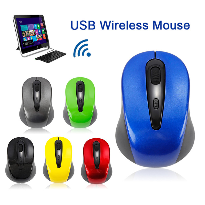 Alician Ergonomic Wireless Mouse 2.4G 2400DPI Optical Gaming Mouse for Laptop Computer Star Black