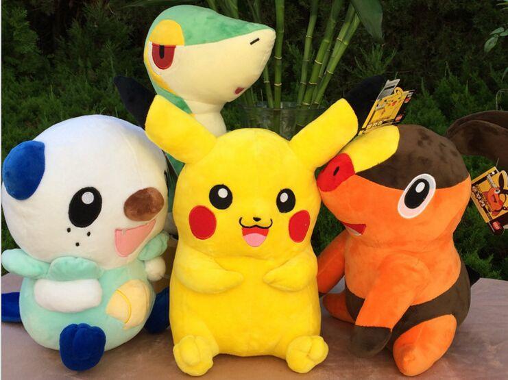 Un ensemble de jouets en peluche belle pikachu, serpent, rat, balle wrasse jouets cadeau environ 30 cm