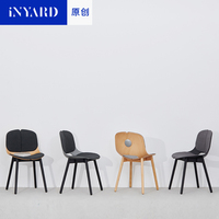 InYard Original Simple Fashion Modern Nordic Chair Office Chair Seat Designer Household Table Solid Wood