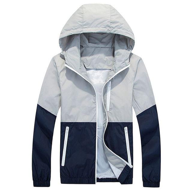 Men Windbreaker Jacket Spring Autumn Fashion Men's Hooded Casual Jackets Male Coat Thin Men Coat Outwear Couple Coat