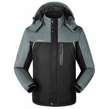 2017 algodón de los hombres más terciopelo mantener caliente a prueba de viento impermeable capa de la manera hombres XXXL chaqueta de invierno abajo y abrigos esquimales