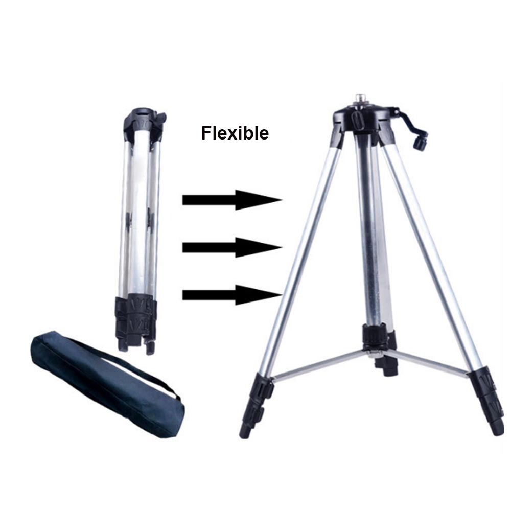 1.2/1.5 M Flexible Laser Level Tripod 5/8 inch Self Level Stand Holder Professional Rotary Adjustable Aluminum Alloy Stand Tool1.2/1.5 M Flexible Laser Level Tripod 5/8 inch Self Level Stand Holder Professional Rotary Adjustable Aluminum Alloy Stand Tool