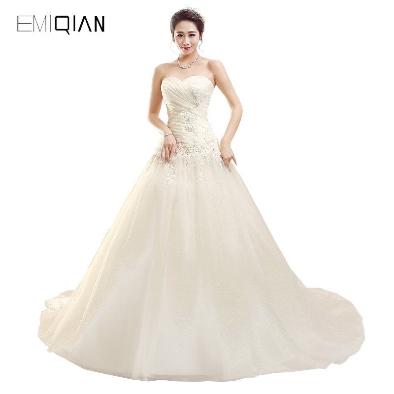Freeshipping Real Photos A line Sweetheart Applique Organza Bride Wedding Dress