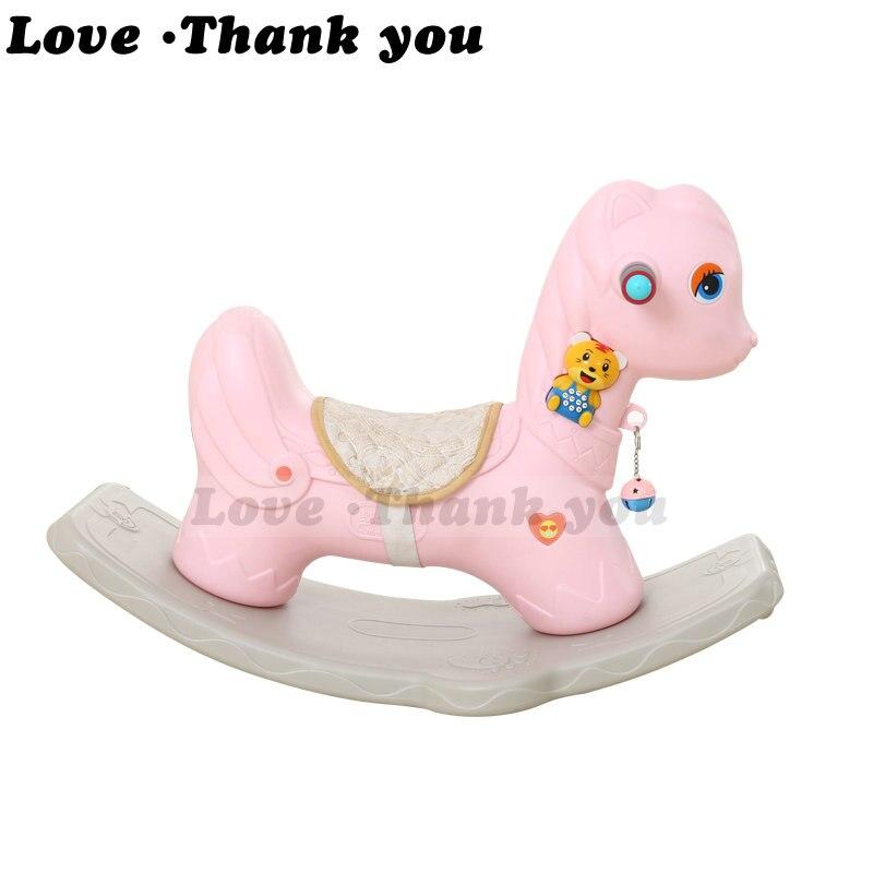 Enfants cheval à bascule musique précoce bébé Trojan épaississement 1-5 bébé cadeau cadeau jouets
