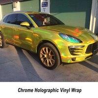 Màu Sắc khác nhau Holographic Chrome Vinyl Xe Wrap Phim Laser Bao Gồm Foil Với không khí phát hành cao linh hoạt STICKER 5ft X 65ft/cuộn