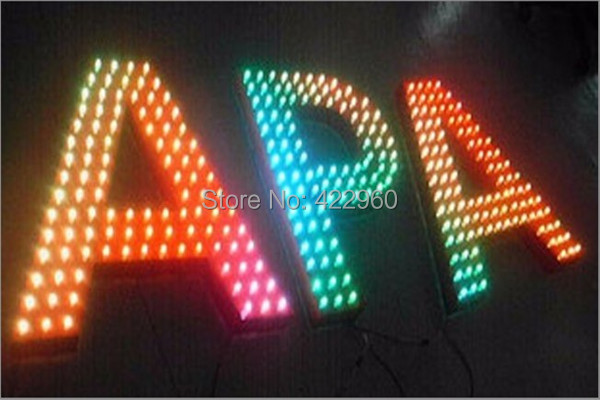 Factory Outlet Galvanized Sheet Pixel RGB Letter,Dot Matrix Letter, Lattice Letters
