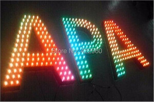 Factory Outlet Galvanized Sheet Pixel RGB Letter,Dot Matrix Letter, Lattice Letters