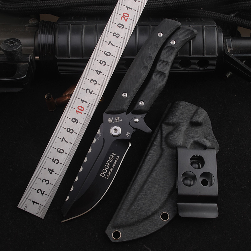 HX OUTDOORS Portable Tactical army Survival Gear knife High hardness D2 steel hunting knife essential tools for self-defense mitech portable hardness testers mh310