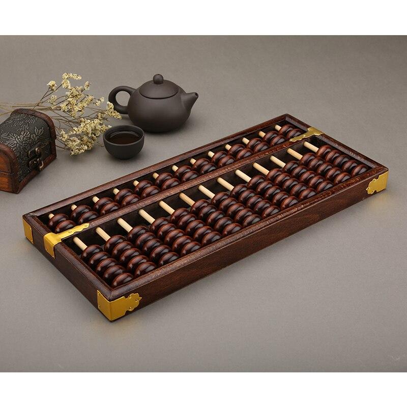 13 colonne vieux boulier chinois sorban haute qualité pour les étudiants, enseignant, comptable noir marron X4