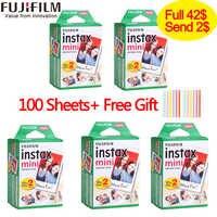 20-100 hojas Fuji Fujifilm instax mini 9 películas borde blanco 3 pulgadas película ancha para cámara instantánea mini 8 8 7 s 7 50 s 50 i 90 25 papel fotográfico