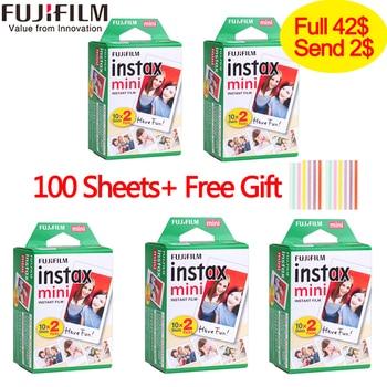 20-100 hojas Fuji Fujifilm instax mini 9 películas borde blanco 3 pulgadas de ancho película instantánea de la cámara mini cámara 8 8 7 s 7 50 s 50 i 90 25 papel fotográfico
