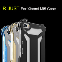 High Quality Mechanical Armor Luxury Space Aluminium Metal Protective Cover Case For Xiaomi Mi5 M5 Case