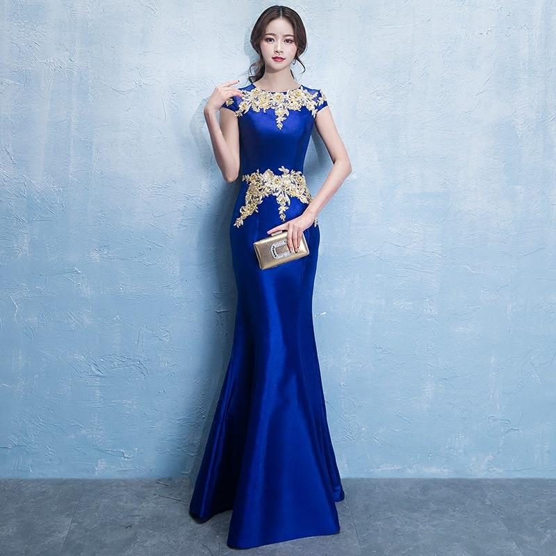 Robe De soirée Sexy bleu Royal longue Robe De soirée sirène élégante robes De bal robes De soirée