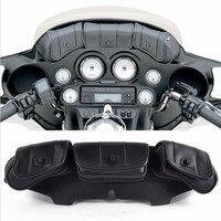 Motorcycle Windshield Bag Saddle 3 Pouch Pocket case for Harley Davidson Touring 1996 2013 Front frame front bag accessories