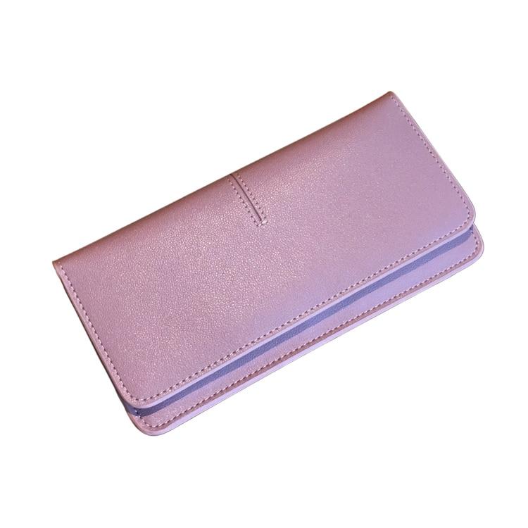 Amasie Leather Wallet Women Clutch Purse for Lady Portefeuille Femme Carteira Feminina Money Clip Minimalist Wallet EGT0203