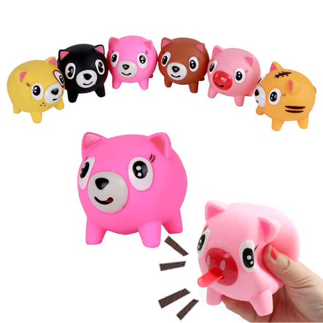Lovely Screams Tongue Doll Tricky Vent Pig Style Doll Toys Reliever Birthday Gift Random Color For Children Adult Random Colors
