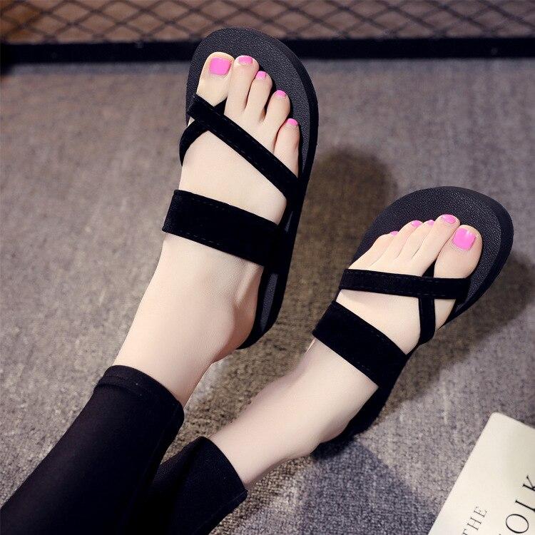 Neue mode frauen schwarz sandalen bequeme hausschuhe frauen sommer schuhe