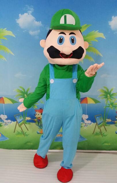 Haute qualité EVA matériel casque personnalisation rapide Mario mascotte Costumes unisexe dessin animé vêtements - 4