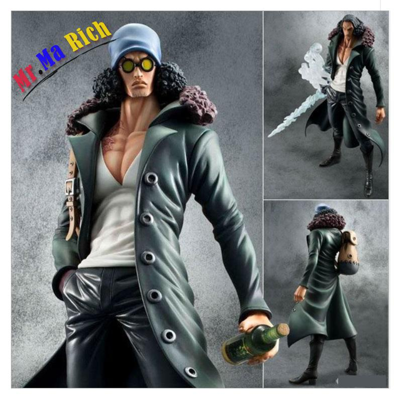Japanese Anime Action Figure One Piece Navy General Kuzan Navy Headquarters Senior 28m Model Collection Action Figurine Doll pop figurine collection toy figure model doll