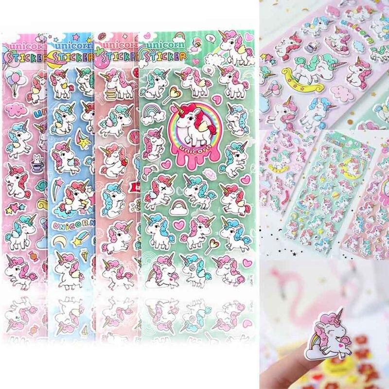Cute Cartoon Unicorn 3D Decorative Stickers Scrapbooking Stick Label Diary Stationery Album Stickers Kids Gifts Random ColorCute Cartoon Unicorn 3D Decorative Stickers Scrapbooking Stick Label Diary Stationery Album Stickers Kids Gifts Random Color