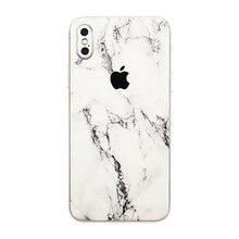 Marble Grain Back Film For Apple iPhone X Mobile Phone Decor