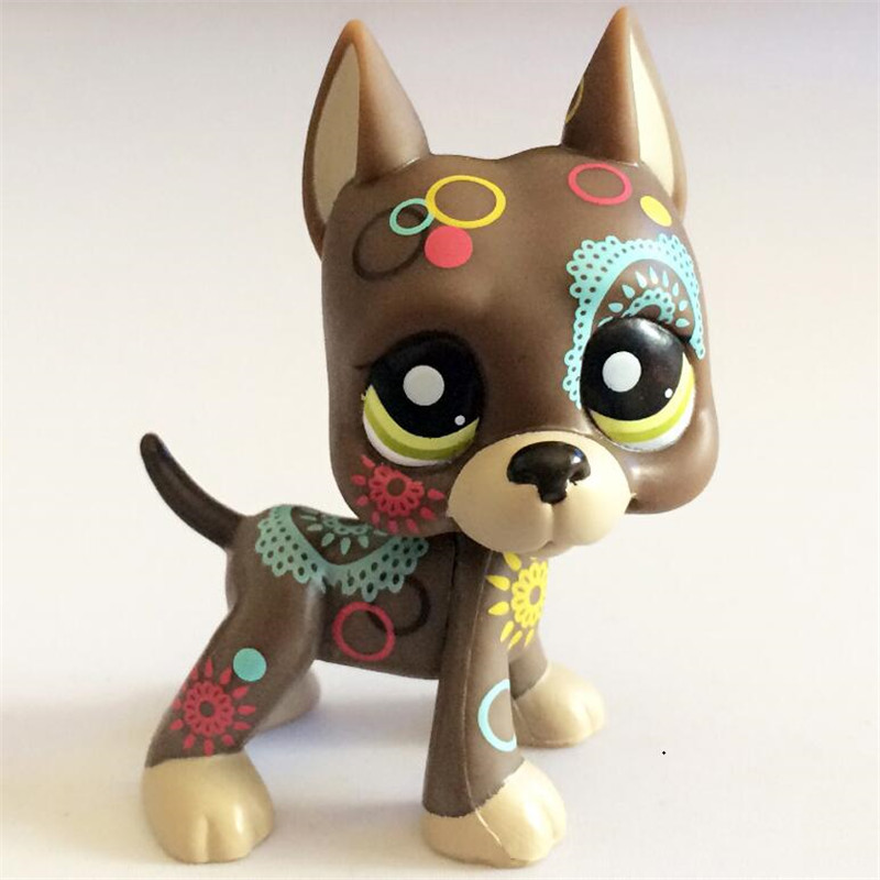 MOANA-LPS Pet Shop Animal Doll LPS Figure Child Toy Gril Dane Dog Without Magnet DWA331