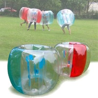 48inch Outdoor Zorb Ball Toys Inflatable Ball 0.3mm PVC Bubble Soccer Air Bumper Ball Bubble Football For Childrens