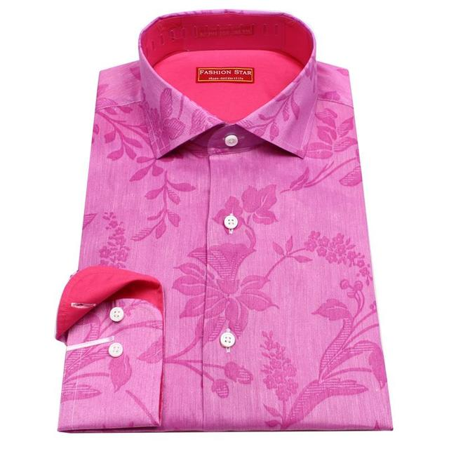 purple silk dress shirt with printed pink flower shirt , man's ...