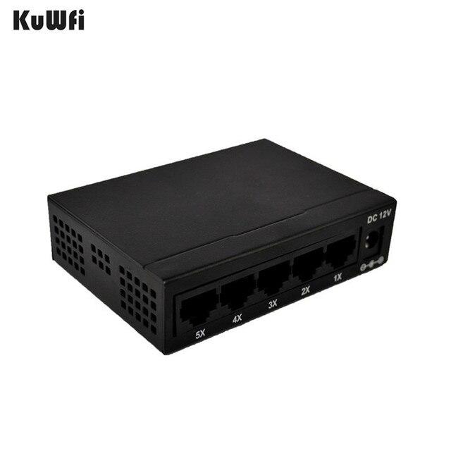 CE ROHS ציות 5 יציאת מתג 10/100M אתרנט מהיר מתג עבור רשת מצלמה Vlan תמיכה RJ45 יציאות תמיכה AUTO MDI/MDIX